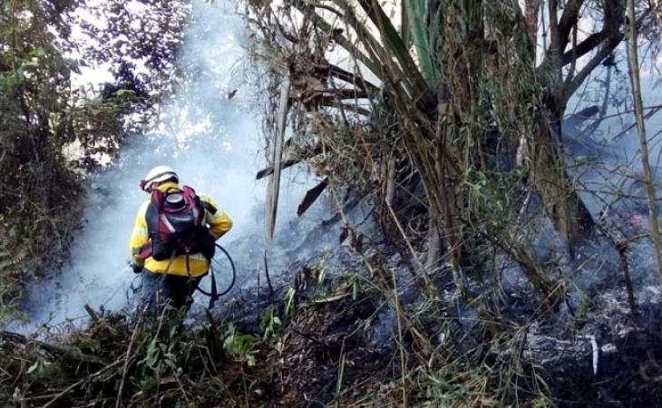Alerta roja en Cundinamarca por incendios y heladas
