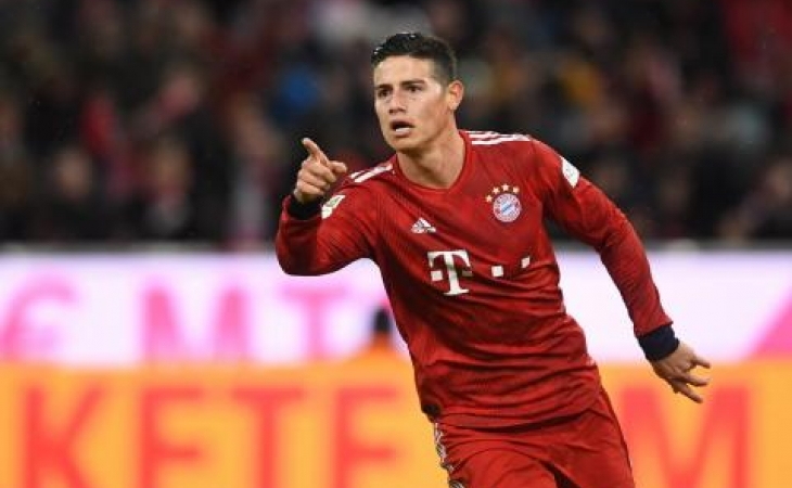 James no está conforme en el Bayern Munich
