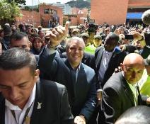 Votacion presidencial en Colombia
