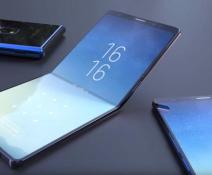 Foldable phone.